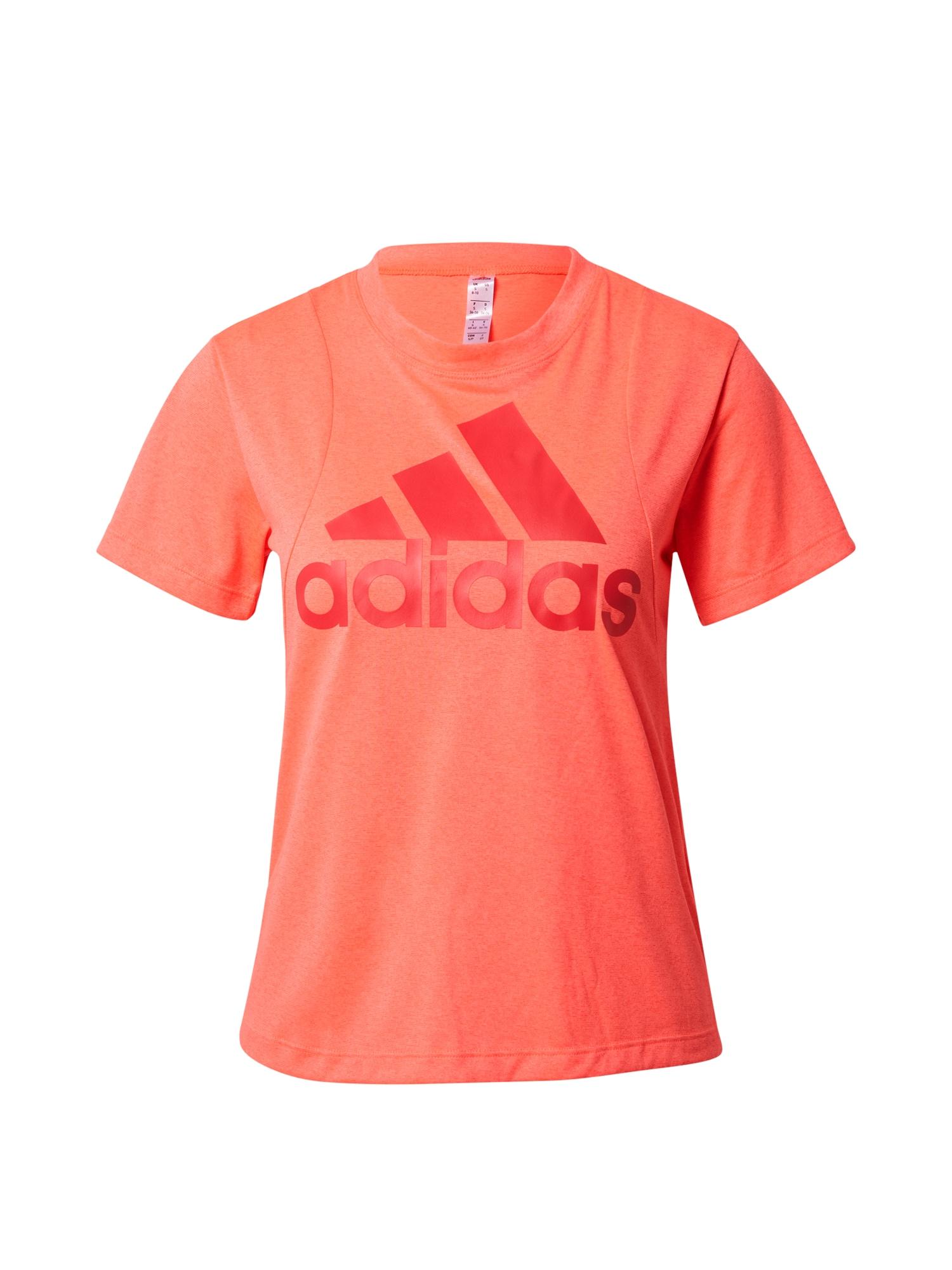 ADIDAS PERFORMANCE Sportiniai marškinėliai oranžinė
