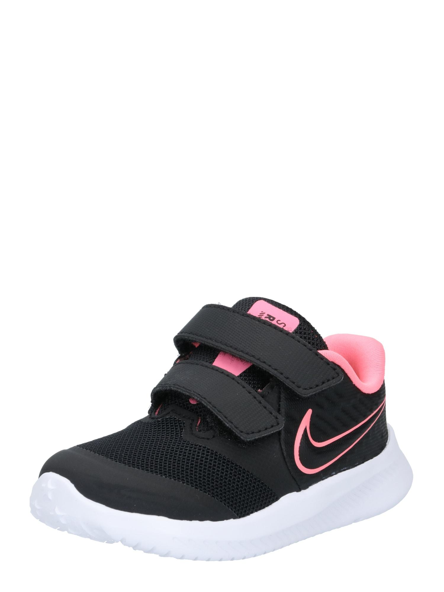 NIKE Sportiniai batai 'Star Runner' juoda / rožinė