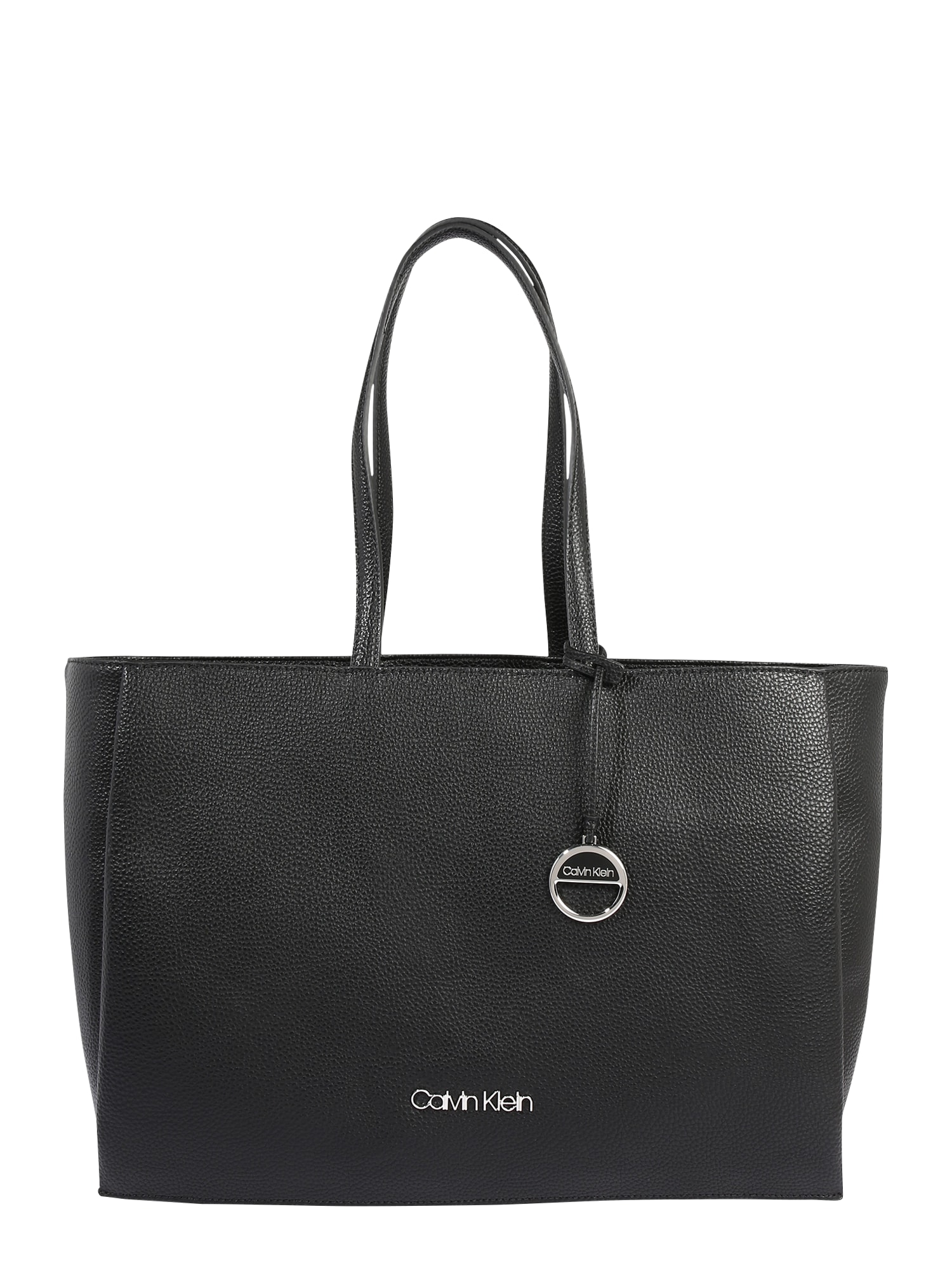Calvin Klein Pirkinių krepšys 'SIDED SHOPPER W/ LAPTOP SLEEVE' juoda