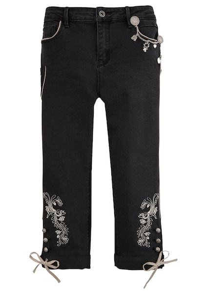 Hosen für Frauen - MARJO Trachtenjeans schwarz silber  - Onlineshop ABOUT YOU