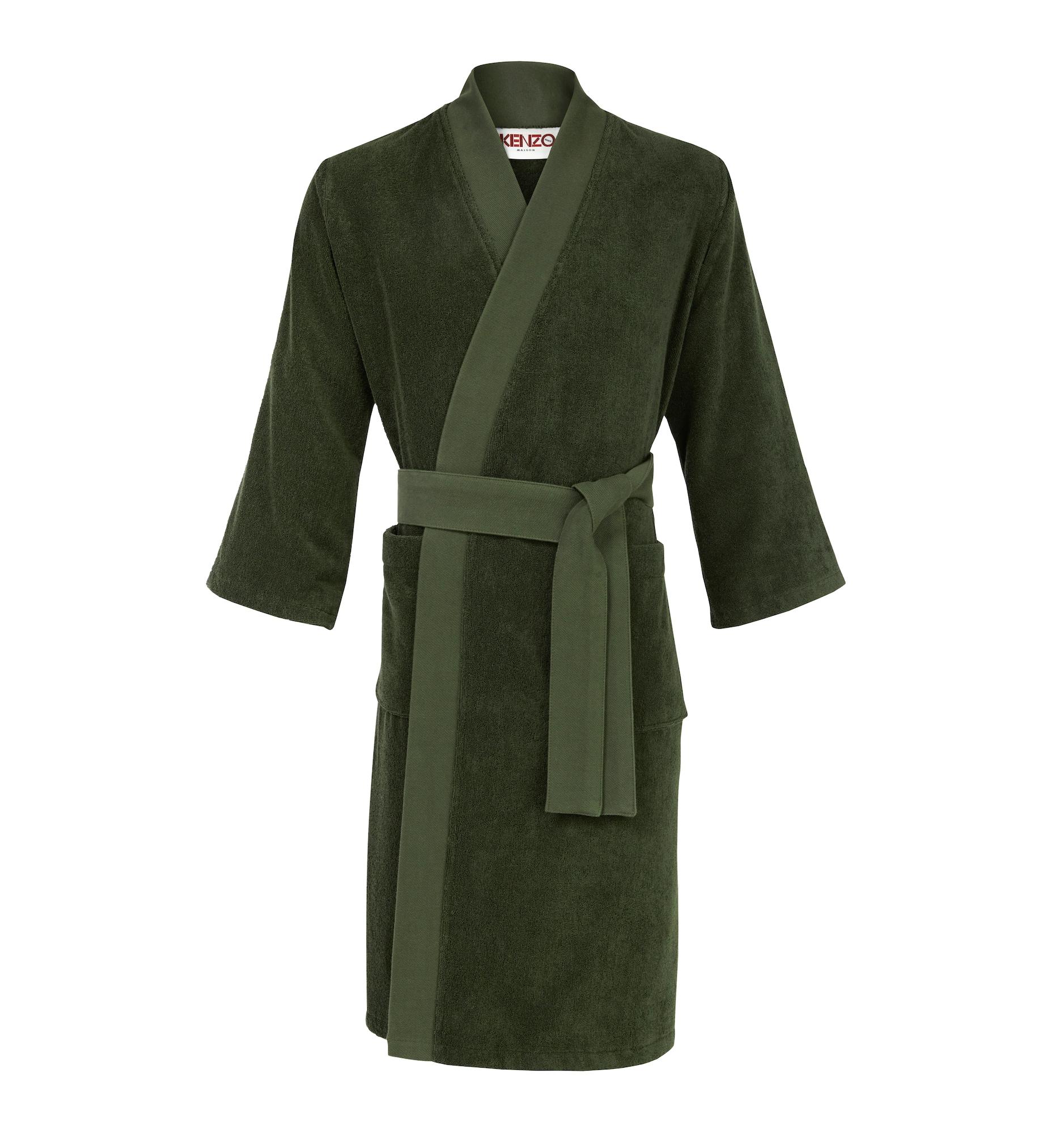 Herren Kenzo Maison Bademantel 'ICONIC' grün,  khaki,  olive | 03152208883453