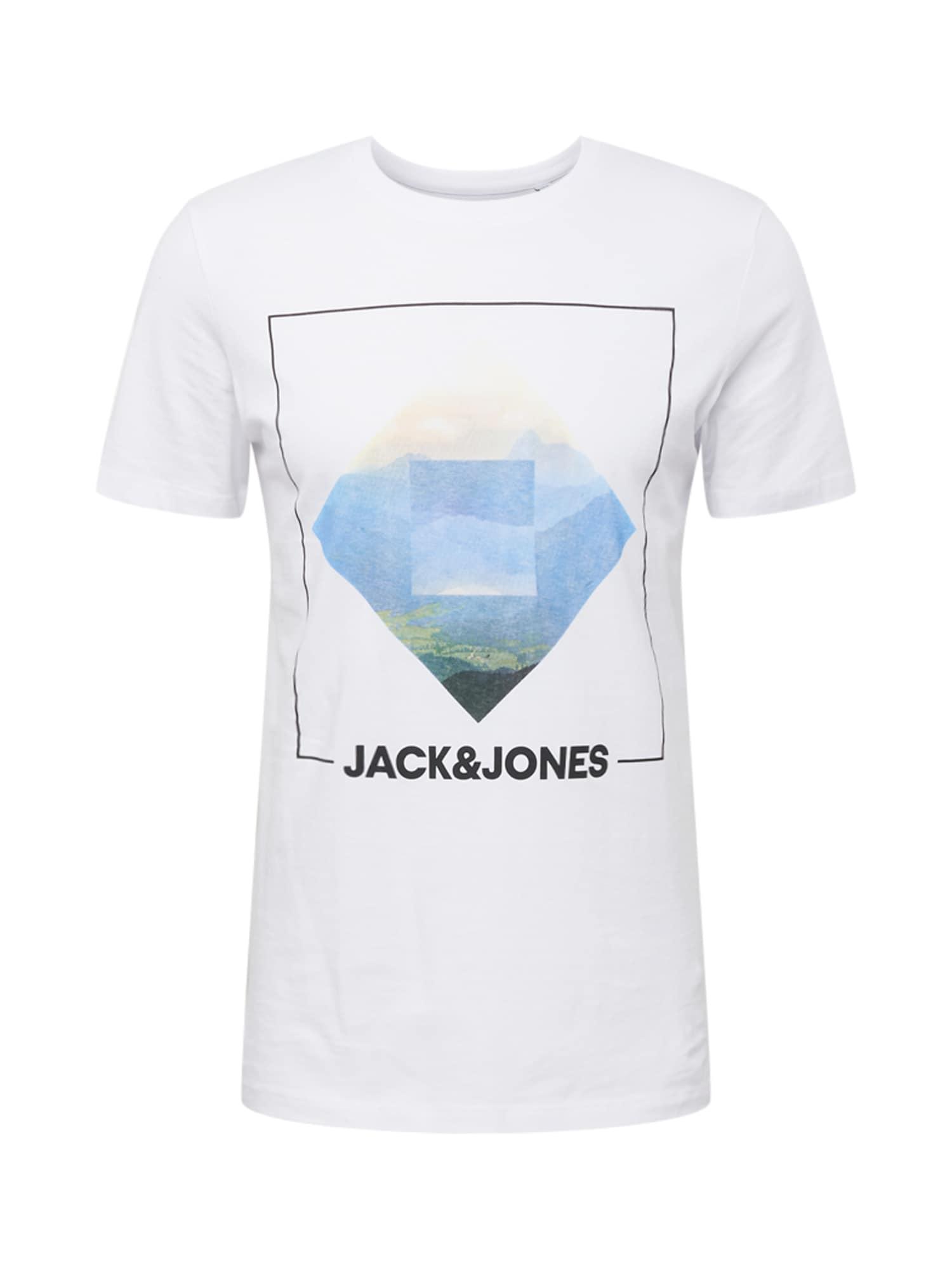 JACK & JONES Tričko 'Barista'  bílá