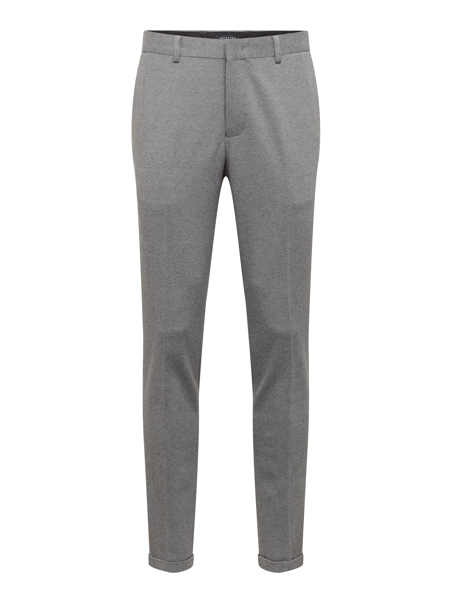 Kalhoty s puky NOOS B šedý melír SELECTED HOMME