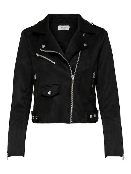 Jacken für Frauen - ONLY Wildlederimitat Jacke schwarz  - Onlineshop ABOUT YOU
