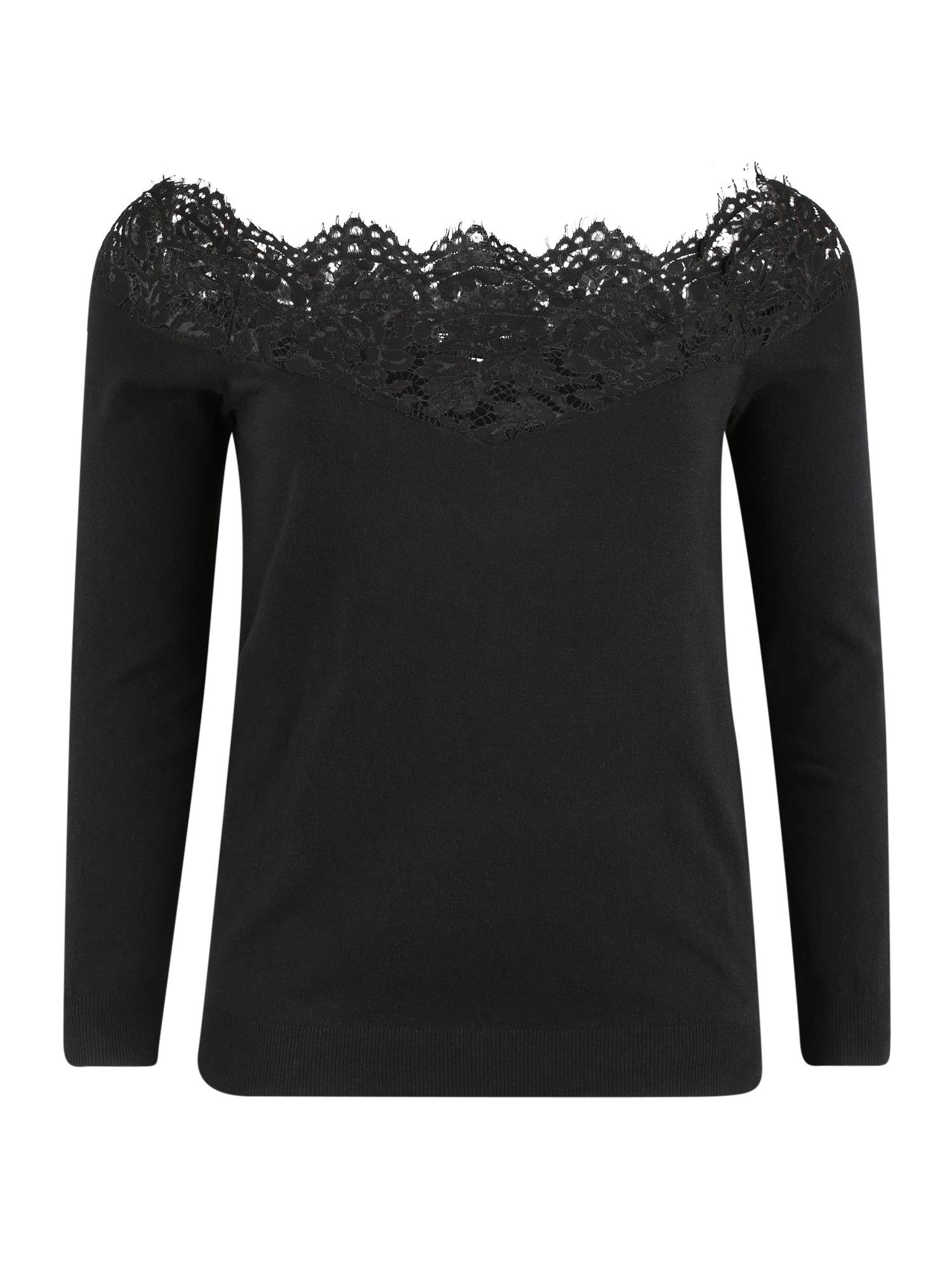 ABOUT YOU Curvy Megztinis 'Ledora Jumper' juoda
