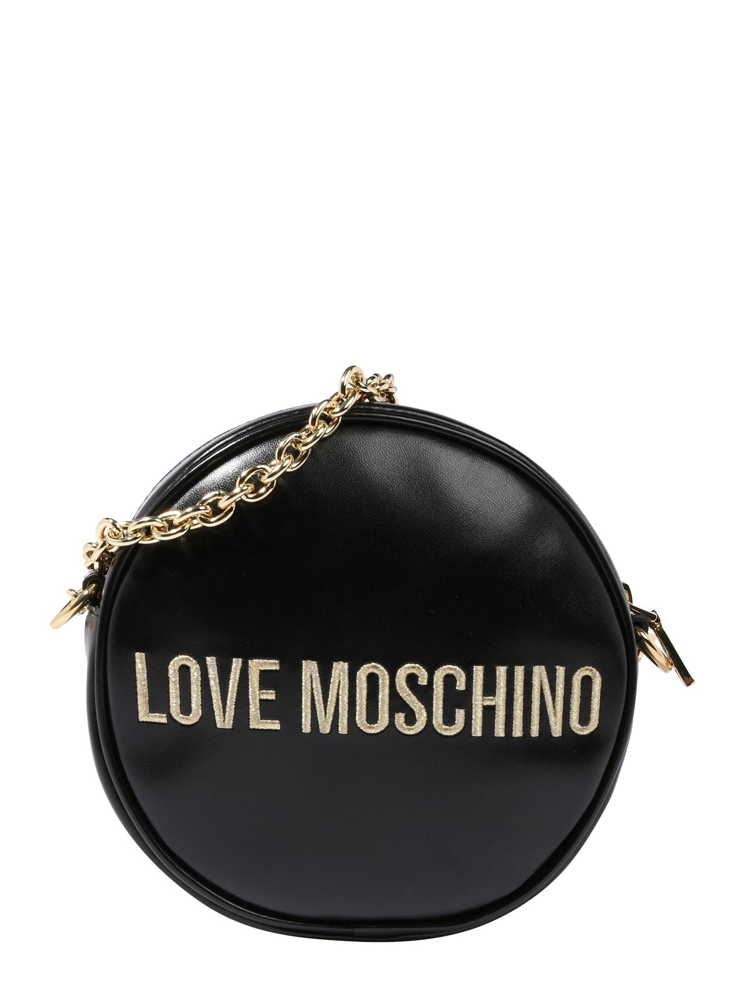 Love Moschino Taška cez rameno 'BORSA'  čierna / zlatá