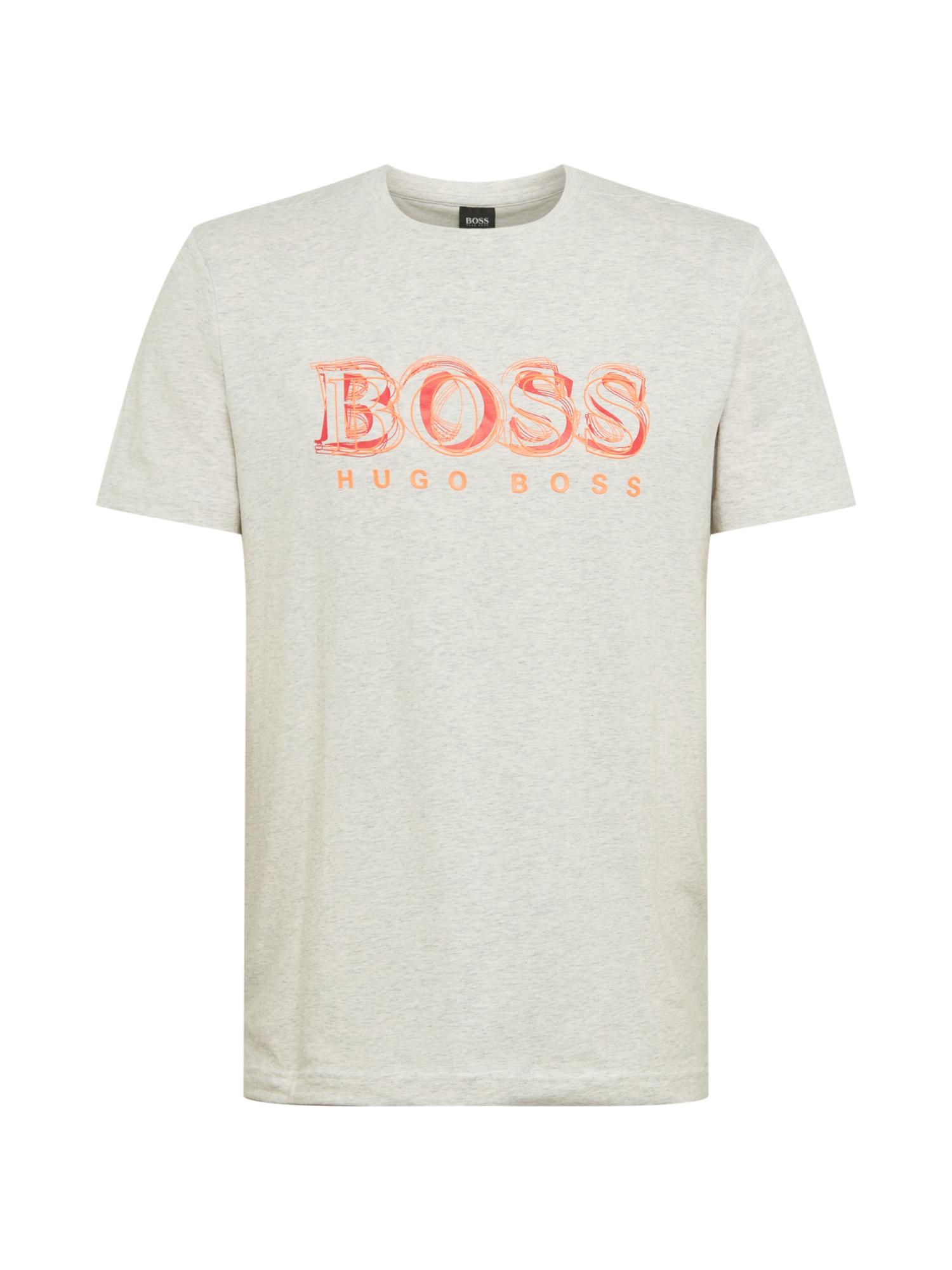 BOSS ATHLEISURE Marškinėliai 'Tee 4' šviesiai pilka