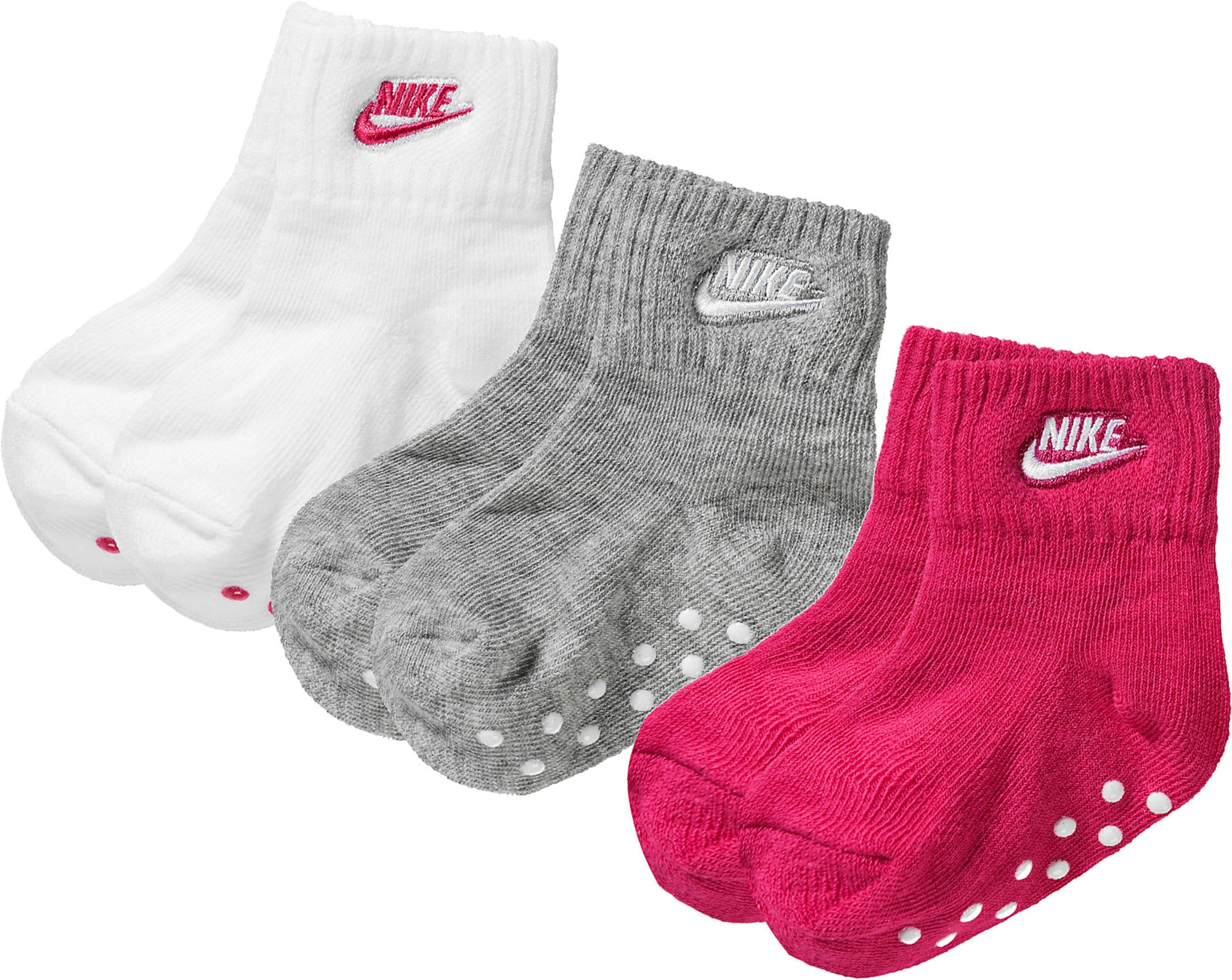 Nike Sportswear Kojinės rožinė / pilka / balta