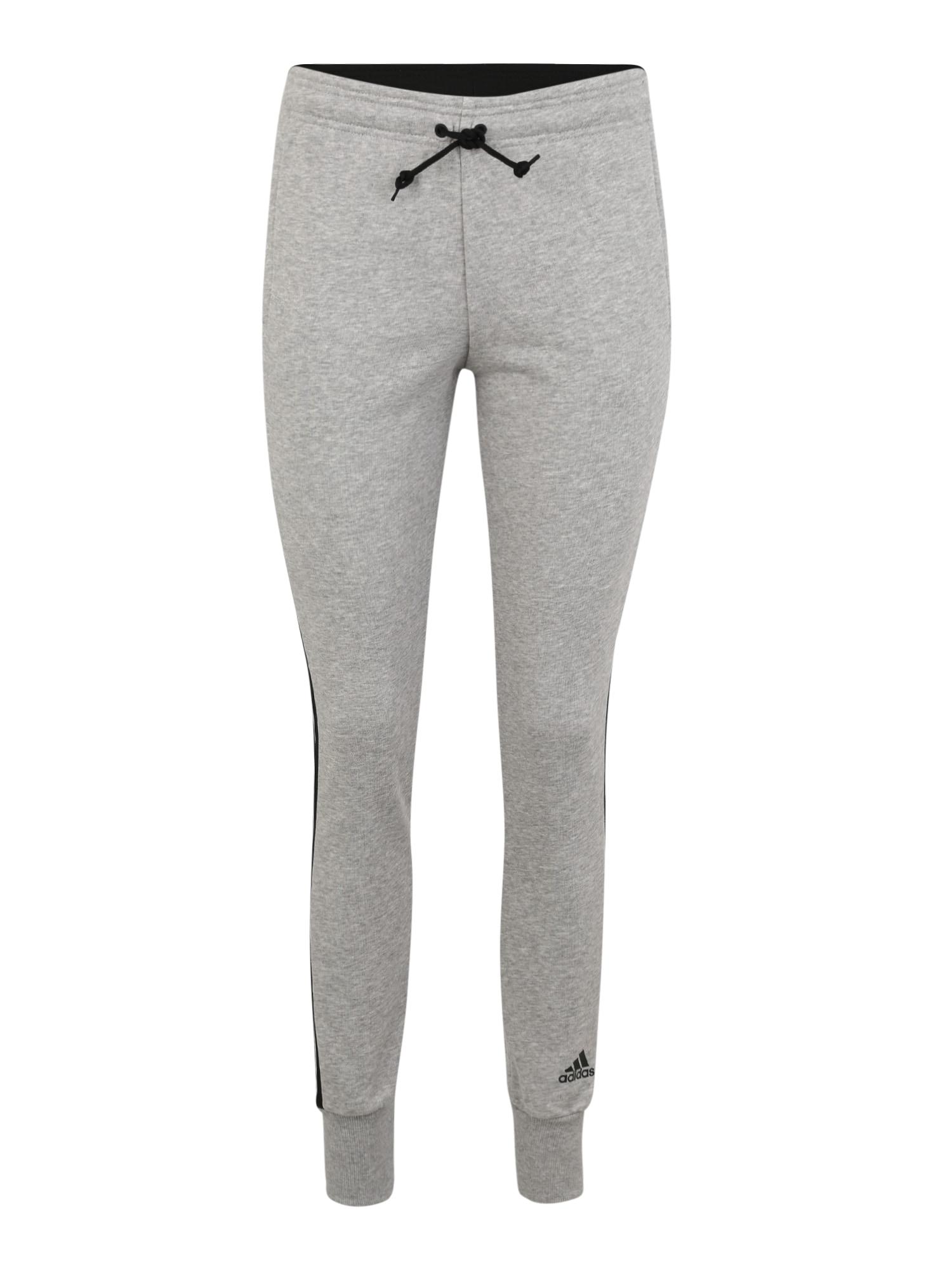Sportovní kalhoty světle šedá černá ADIDAS PERFORMANCE