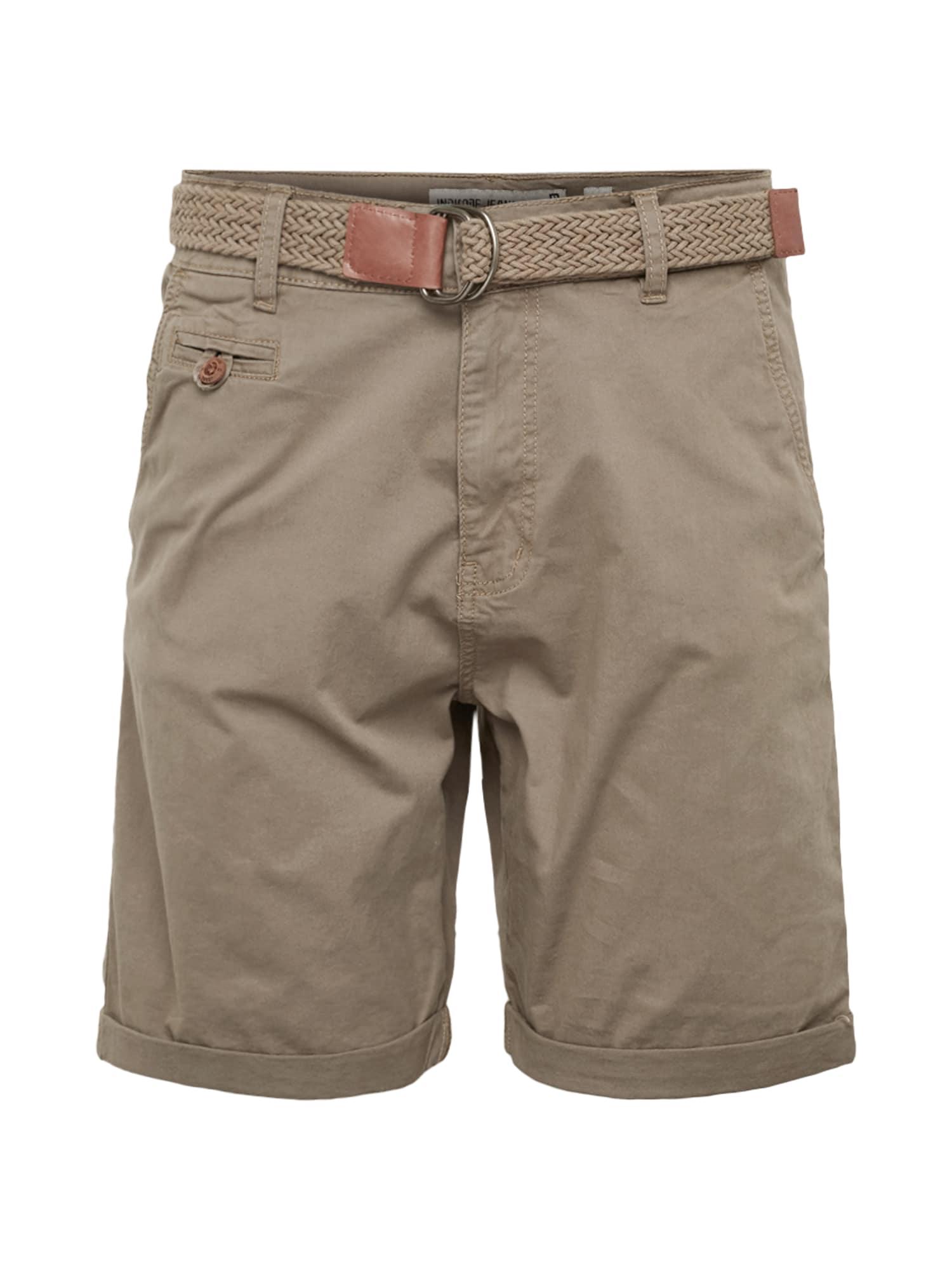 INDICODE JEANS Chino stiliaus kelnės 'Conor' pilka