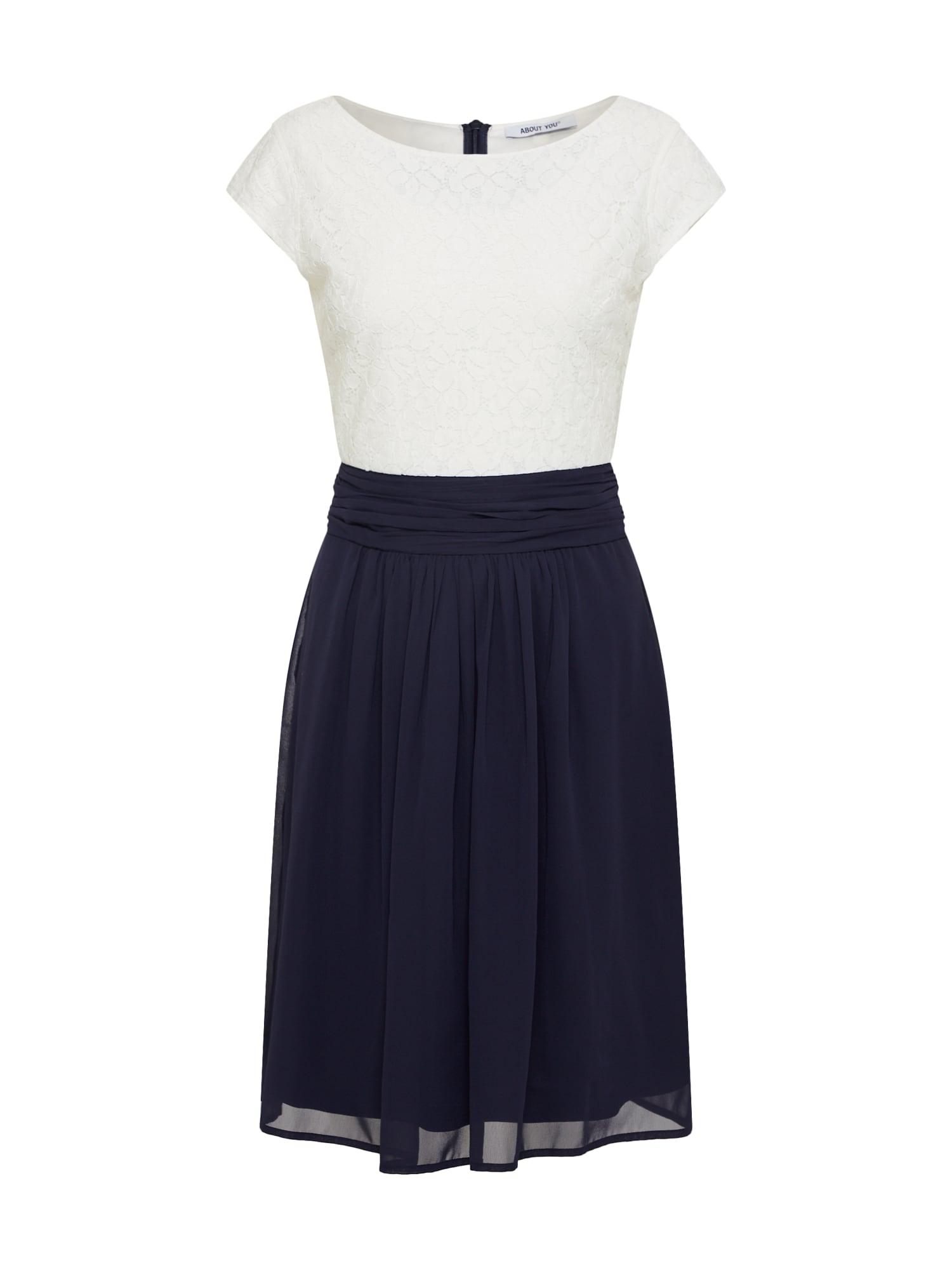 Šaty Darlin námořnická modř bílá ABOUT YOU