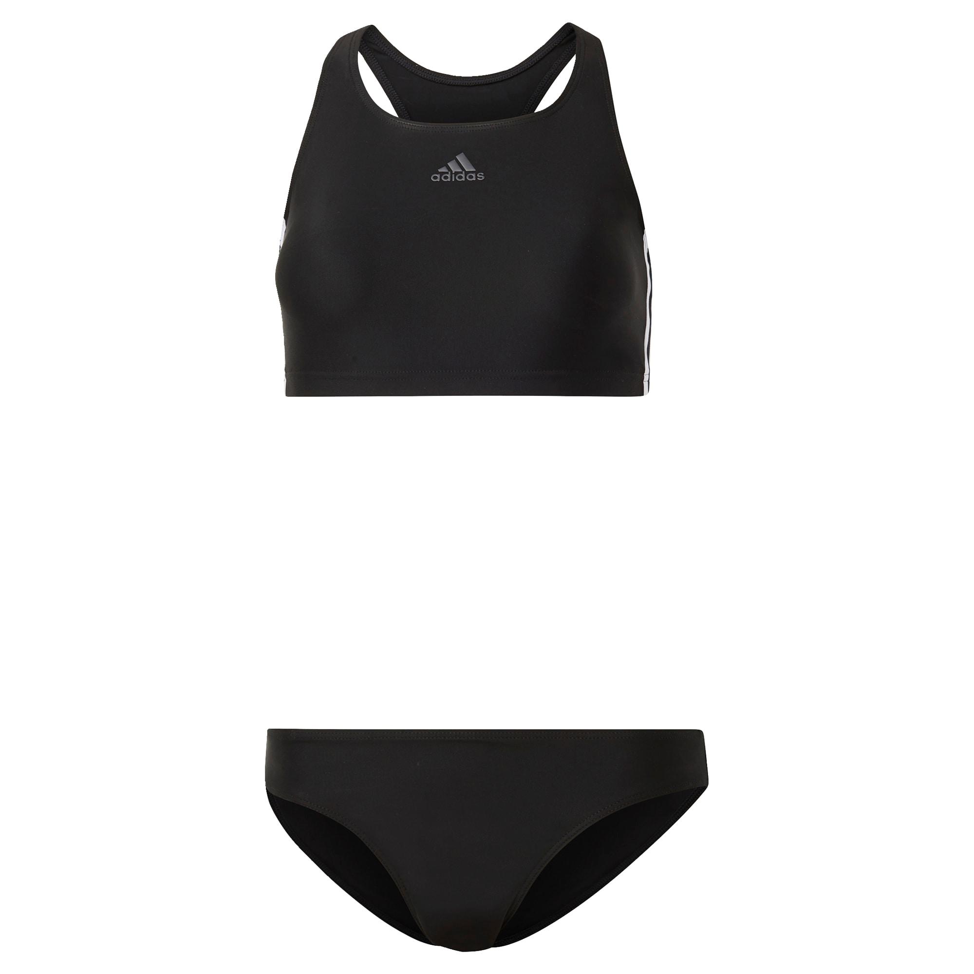 ADIDAS PERFORMANCE Sportinis bikinis juoda / balta