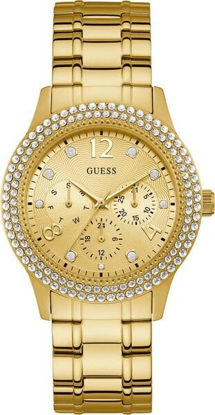 Uhren für Frauen - GUESS Multifunktionsuhr 'BEDAZZLE' gold  - Onlineshop ABOUT YOU