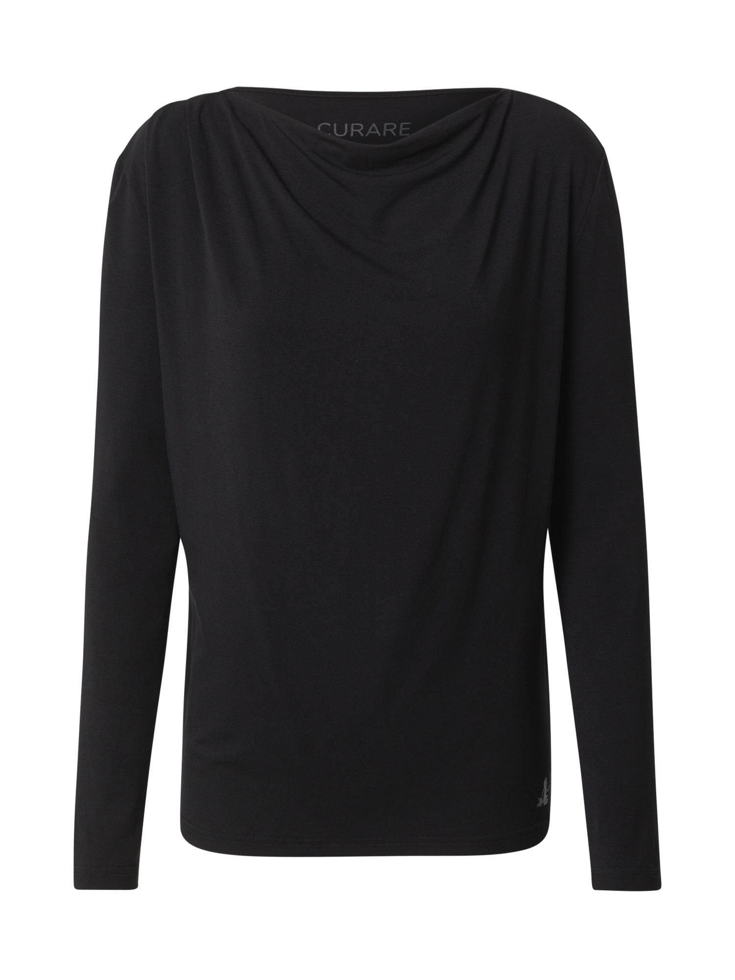 CURARE Yogawear Sportiniai marškinėliai juoda