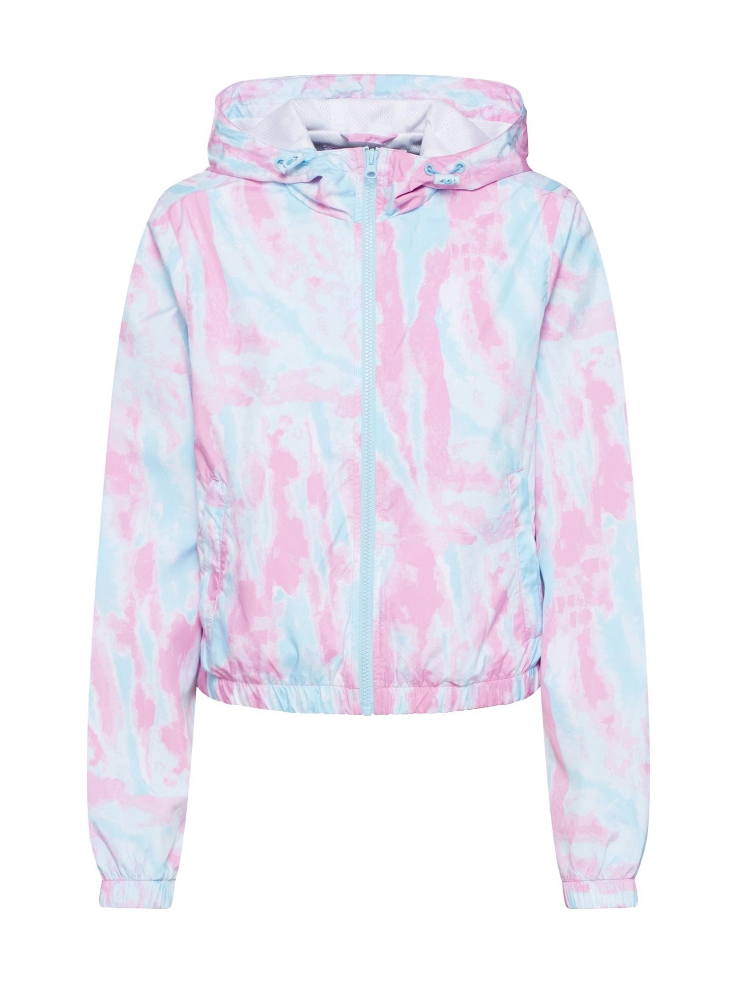 Urban Classics Prechodná bunda  tyrkysová / ružová