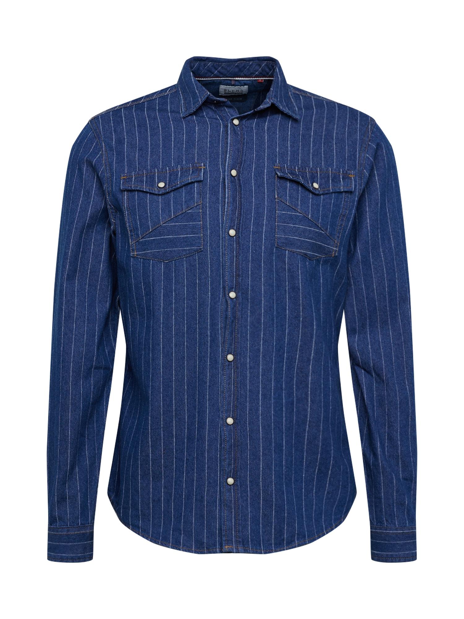 BLEND Dalykiniai marškiniai mėlyna