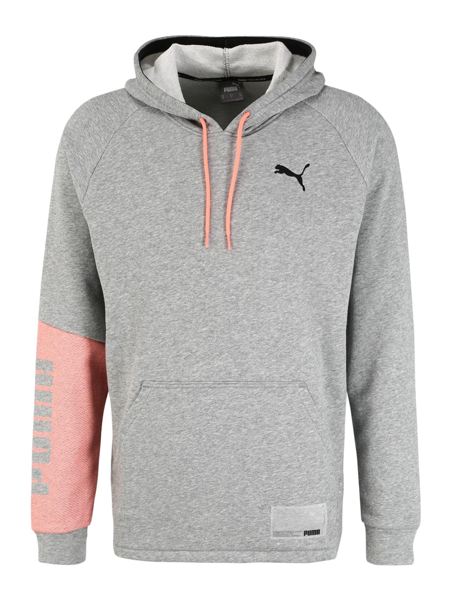 PUMA Sportinio tipo megztinis pilka / rožių spalva