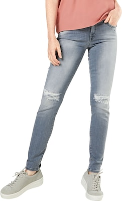 7 For All Mankind 'The Skinny' Mid Waist Jeans mit Destroyed-Effekten