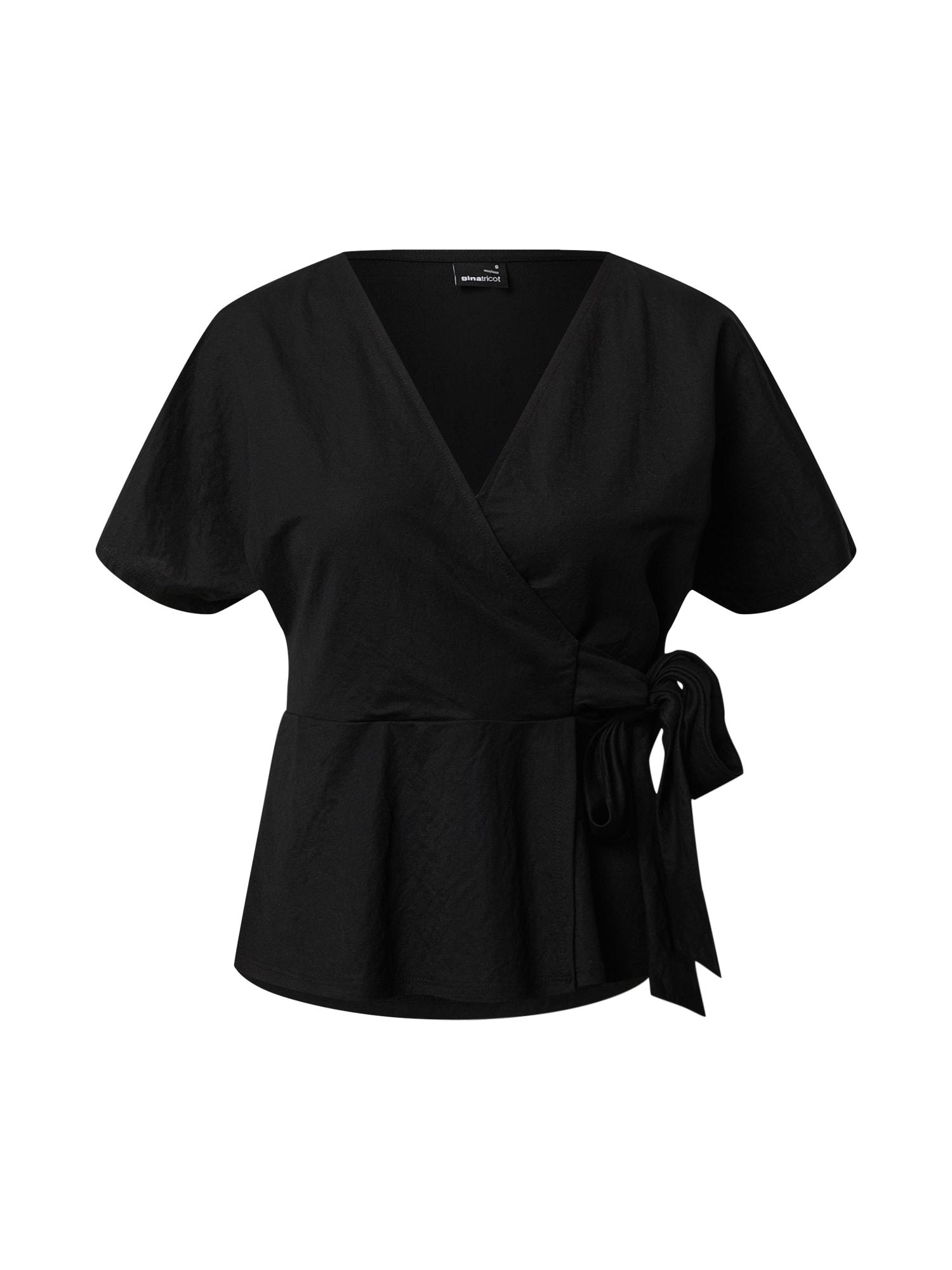 Gina Tricot Marškinėliai 'Wanja' juoda