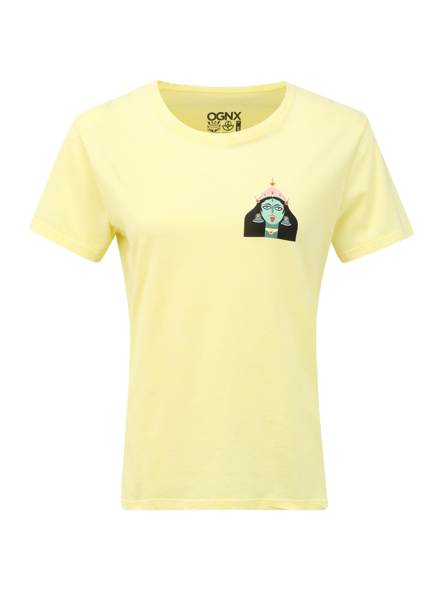OGNX Sportiniai marškinėliai 'Loose T-Shirt Kali' žaliosios citrinos spalva