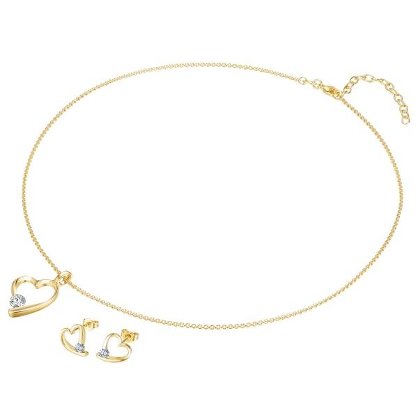 Schmucksets für Frauen - Rafaela Donata Kette mit Anhänger und Ohrstecker mit Kristallen von Swarovski® gold  - Onlineshop ABOUT YOU