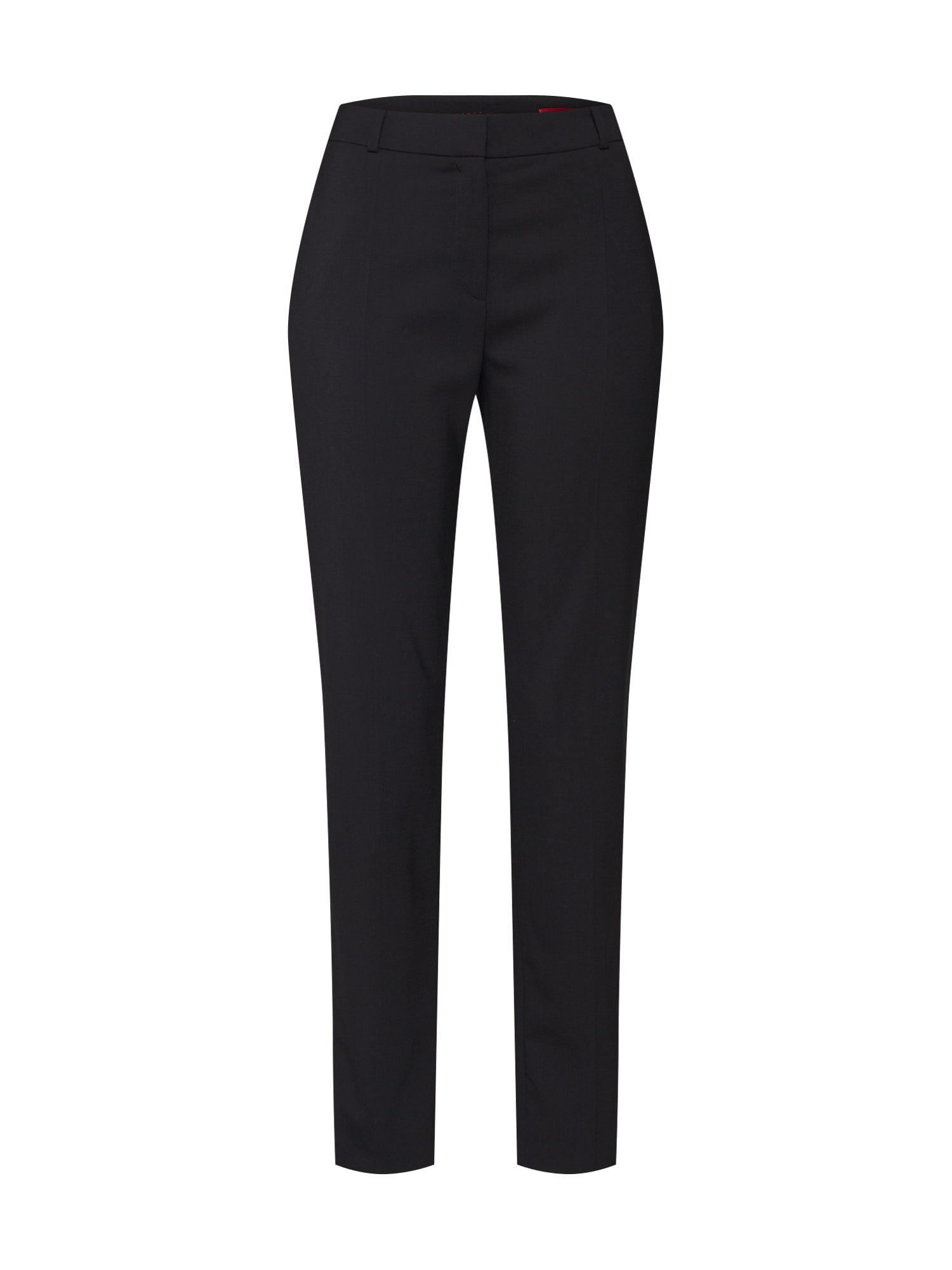 HUGO Kelnės su kantu juoda