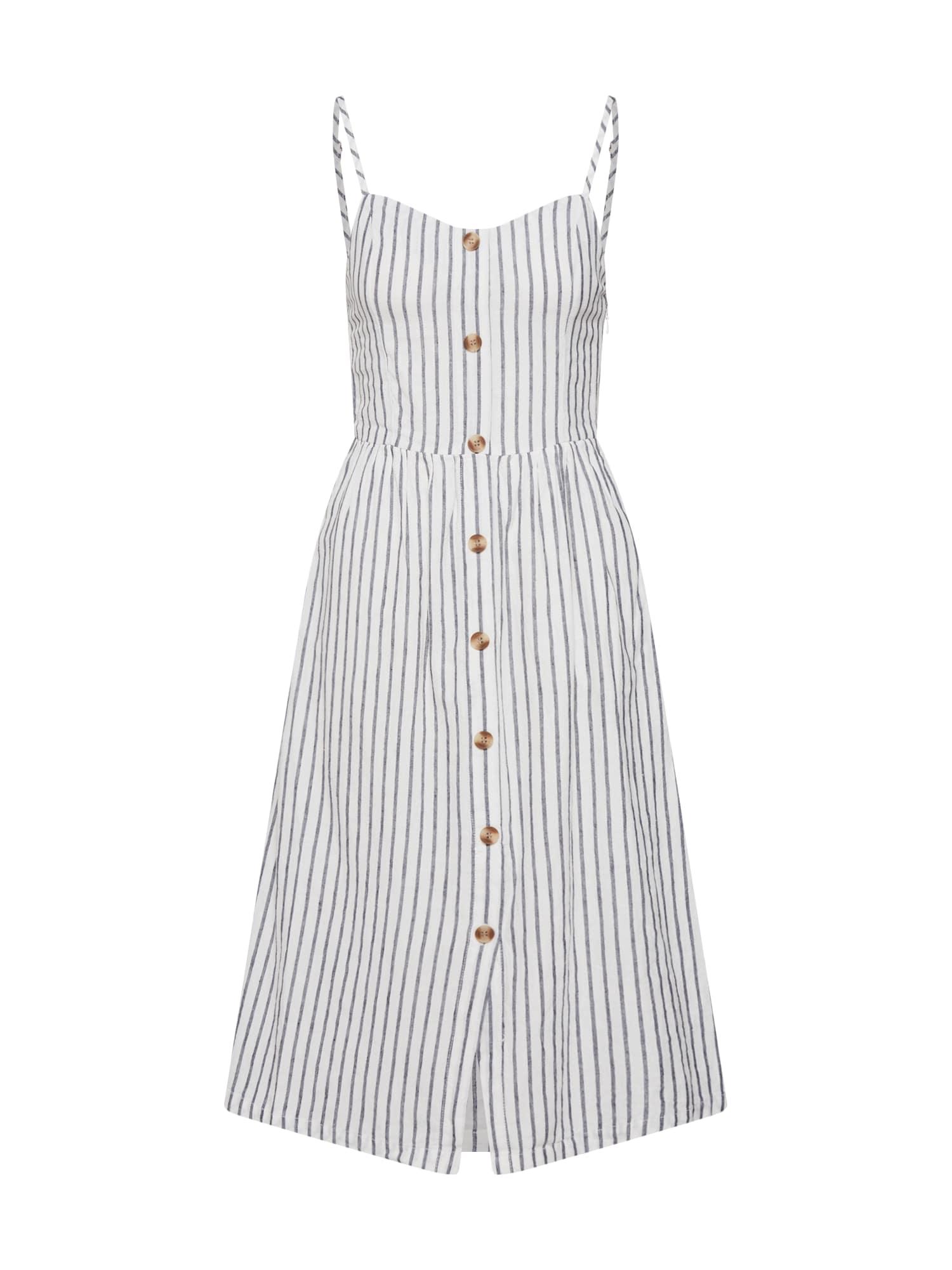 Šaty onlLuna Strap Stripe DNM QY T tmavě šedá bílá ONLY