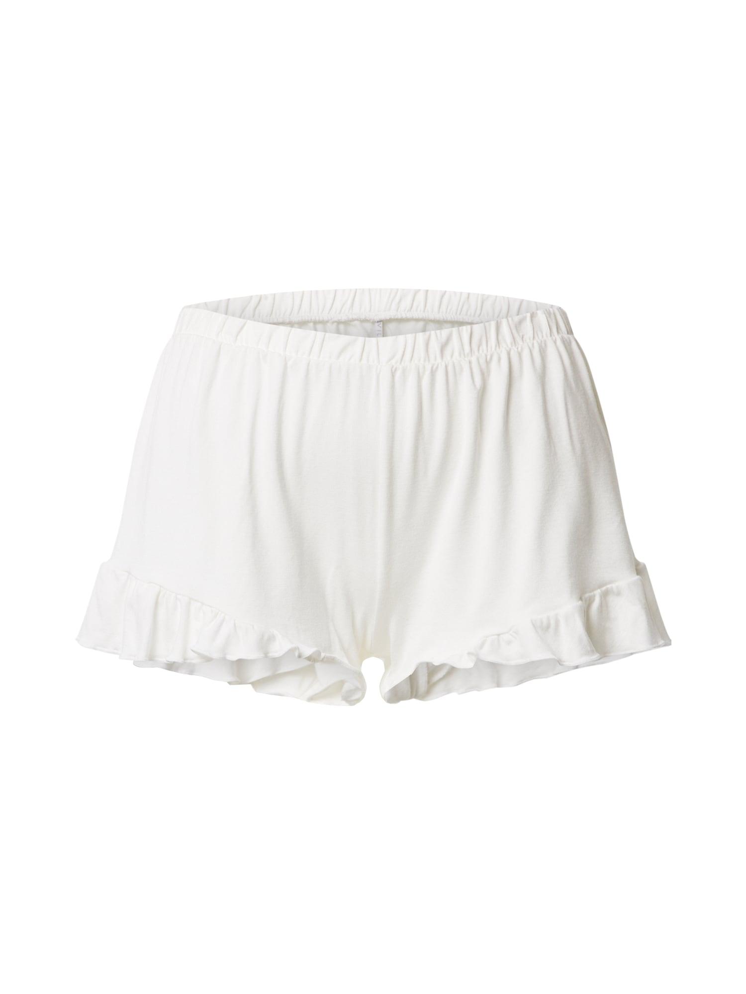 VILA Pižaminės kelnės 'VIRAVI' balta