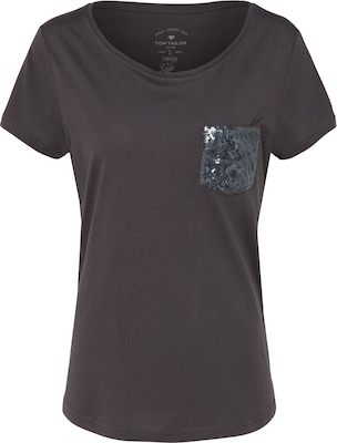 TOM TAILOR T-Shirt 'with sequin pocket'