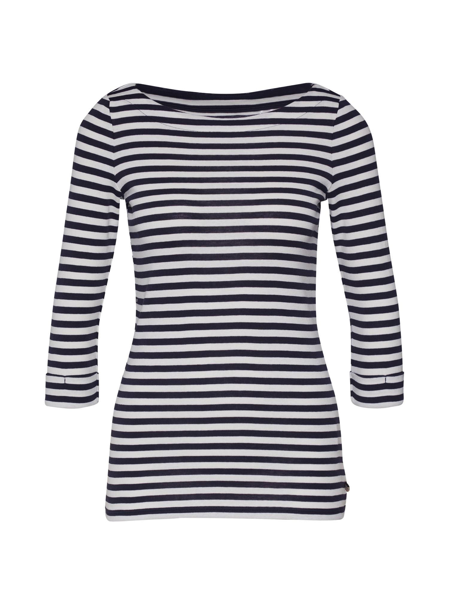 ESPRIT Marškinėliai 'NOOS OCS Tee' tamsiai mėlyna / balta