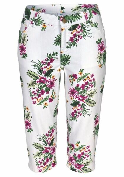 Hosen für Frauen - Caprijeans › BEACH TIME › gelb grün pink weiß  - Onlineshop ABOUT YOU