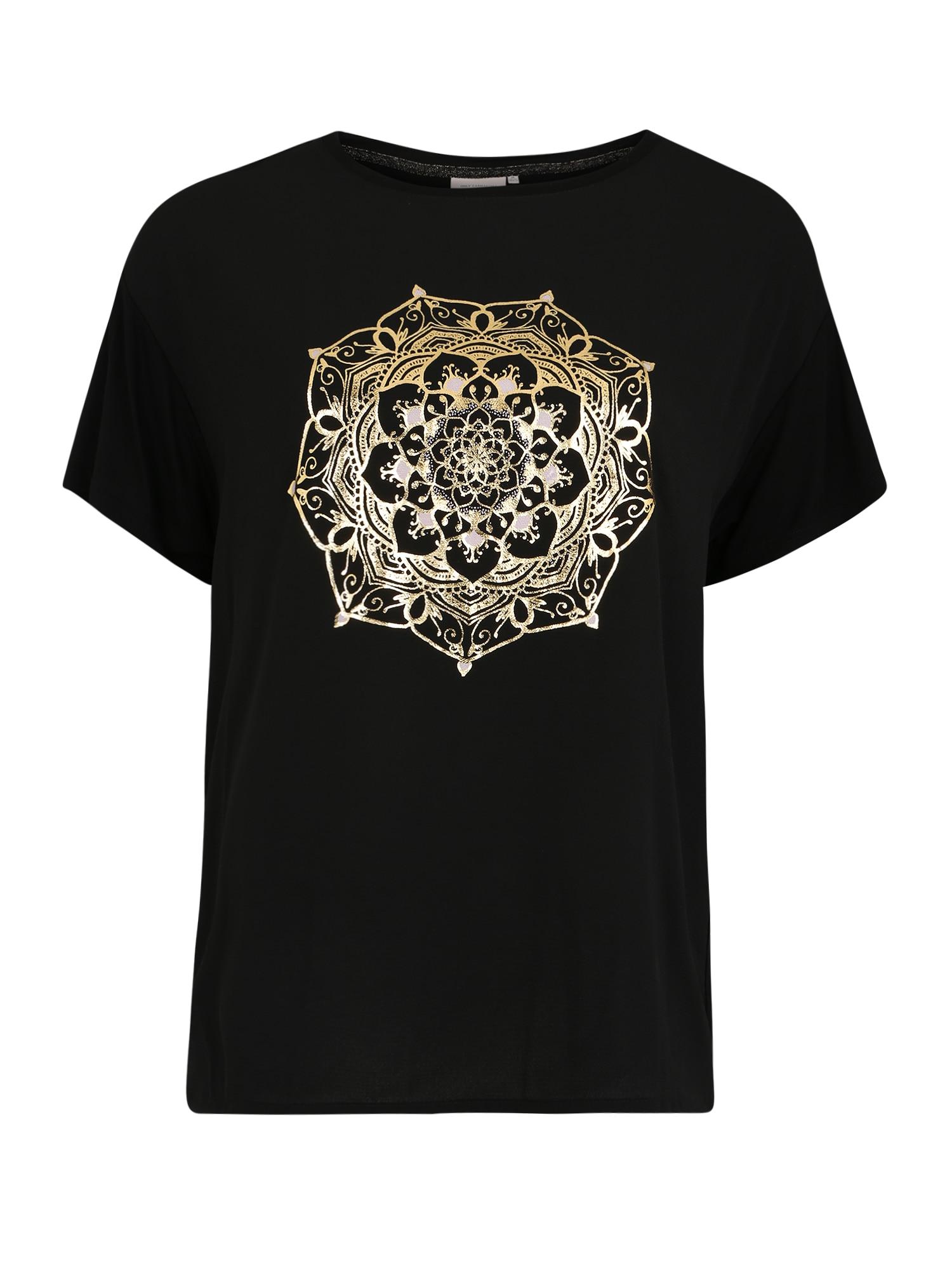 ONLY Carmakoma Marškinėliai 'CARART' juoda