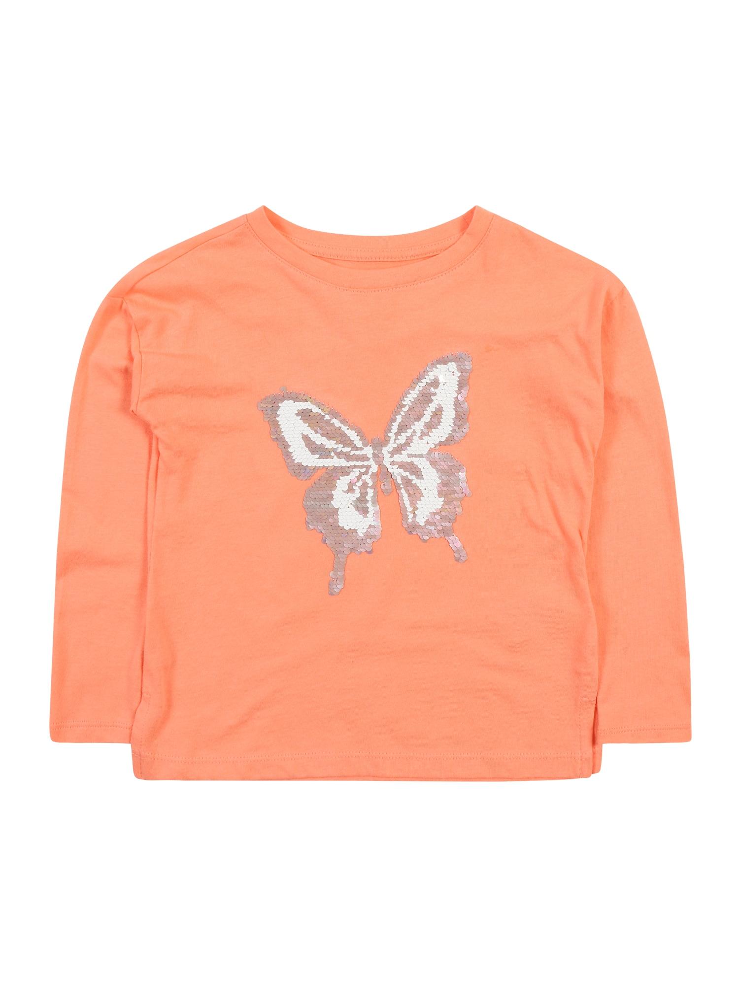 GAP Marškinėliai koralų splava / pudros spalva / balta