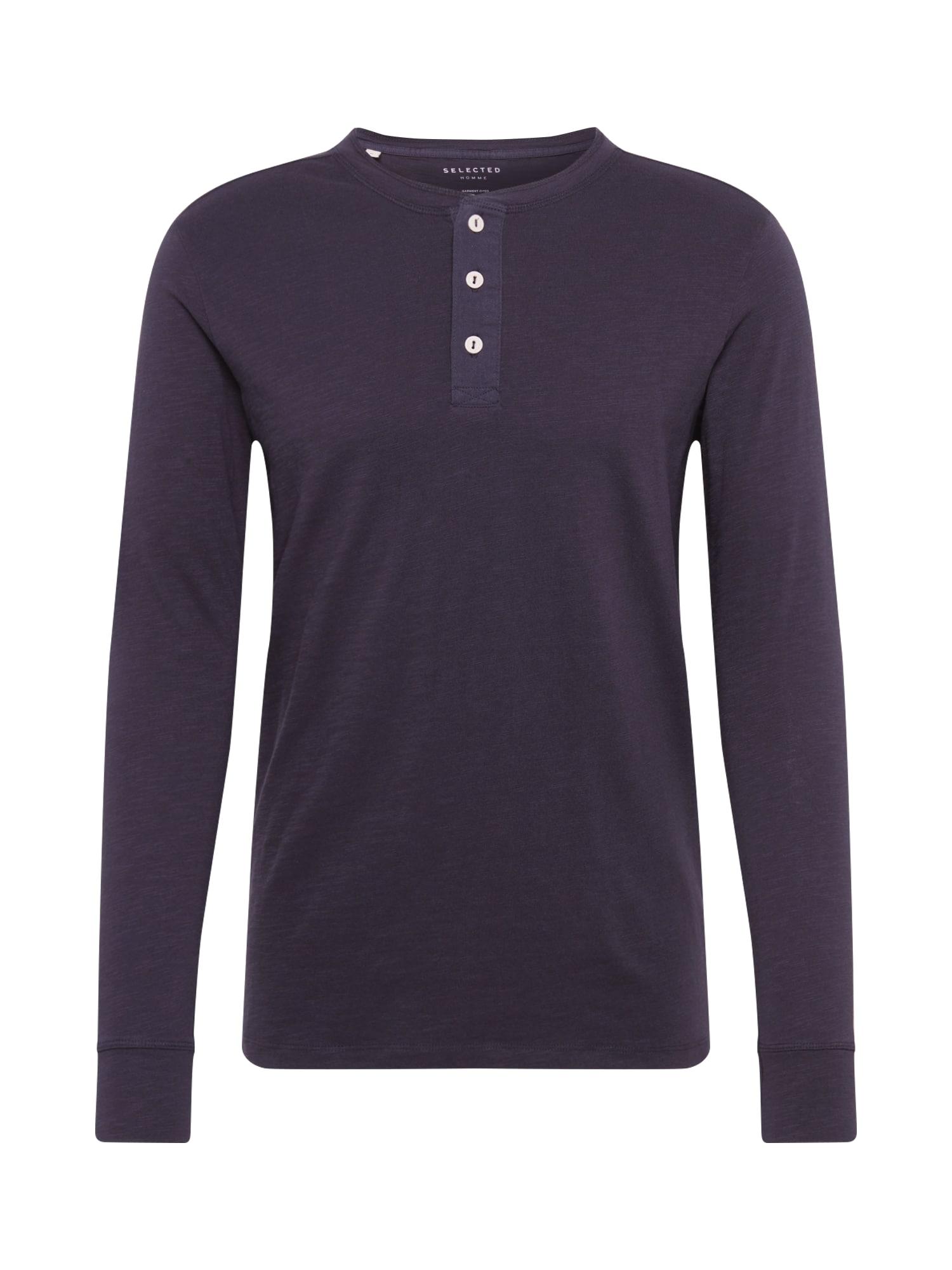 SELECTED HOMME Marškinėliai juoda