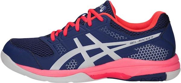 Sportschuhe für Frauen - ASICS Laufschuhe 'GEL ROCKET 8' dunkelblau grau cranberry  - Onlineshop ABOUT YOU