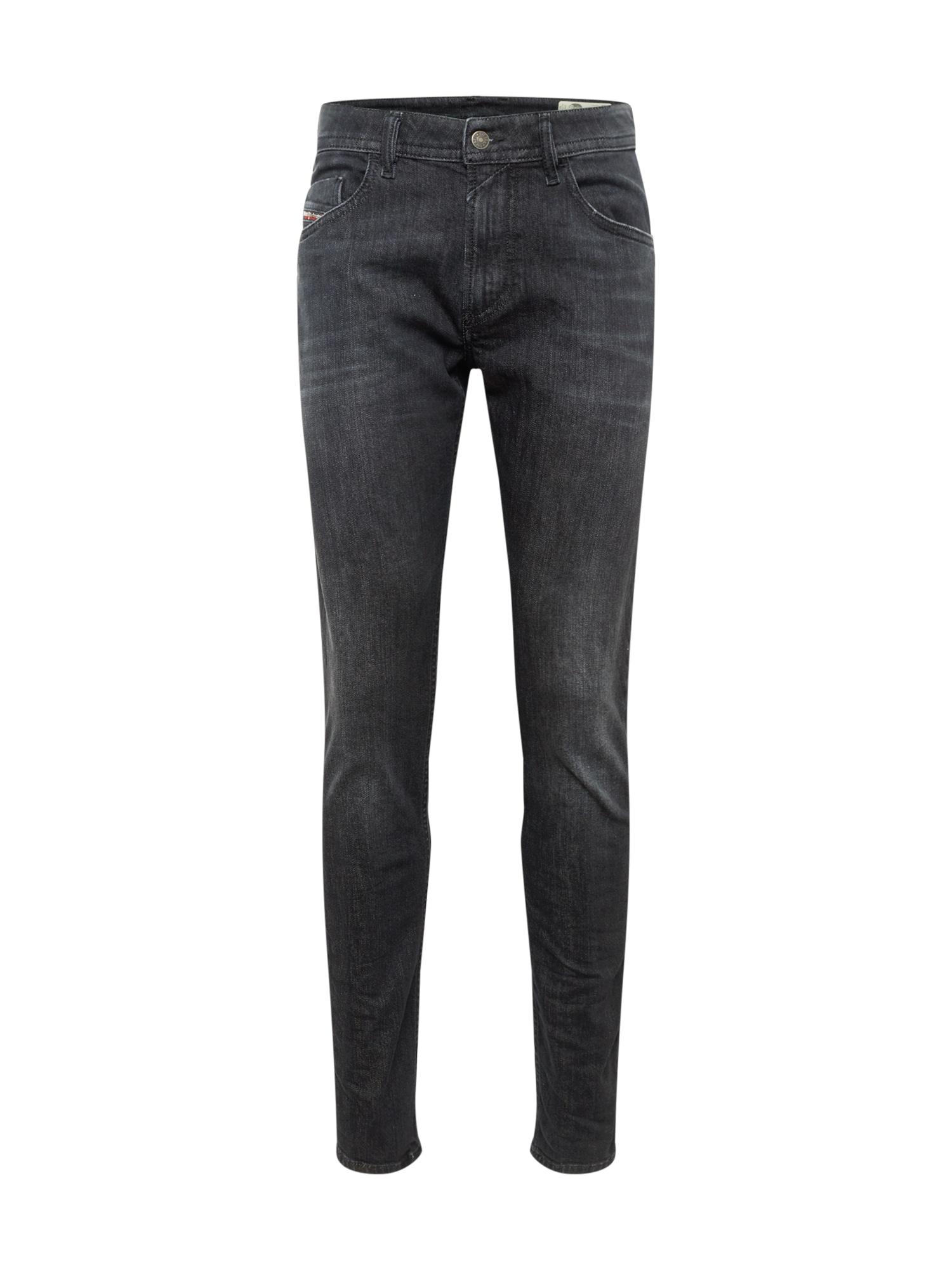DIESEL Džinsai juodo džinso spalva
