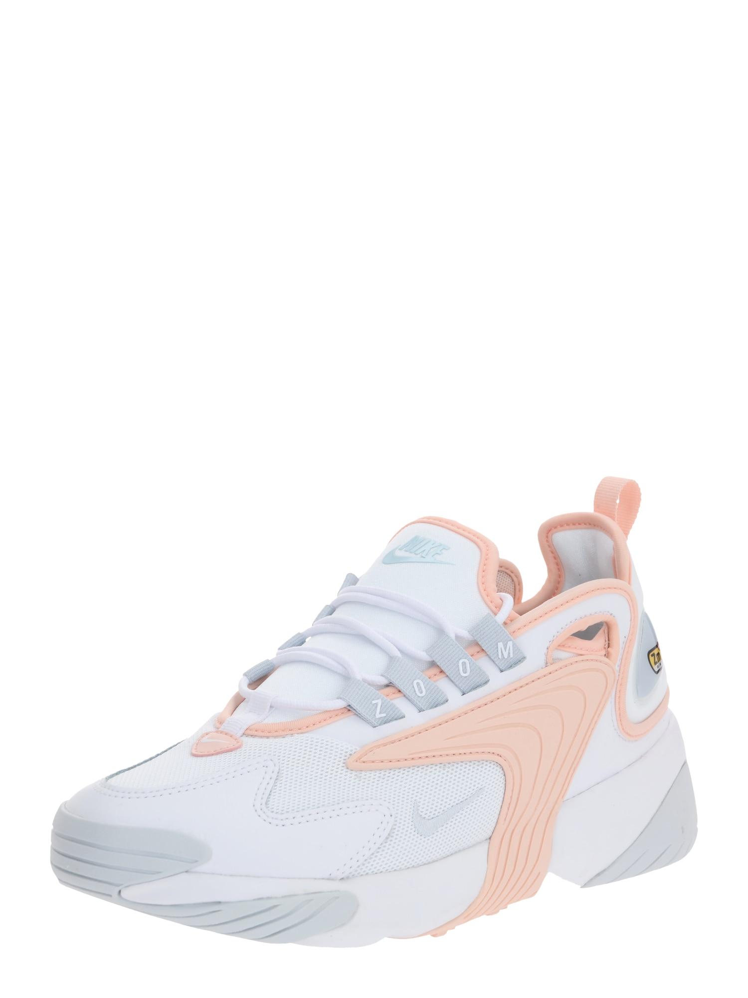 Nike Sportswear Nízke tenisky 'Nike Zoom 2K'  ružová / biela