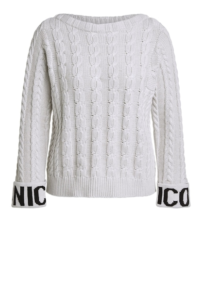 Oberteile - Pullover › Oui › grau offwhite  - Onlineshop ABOUT YOU