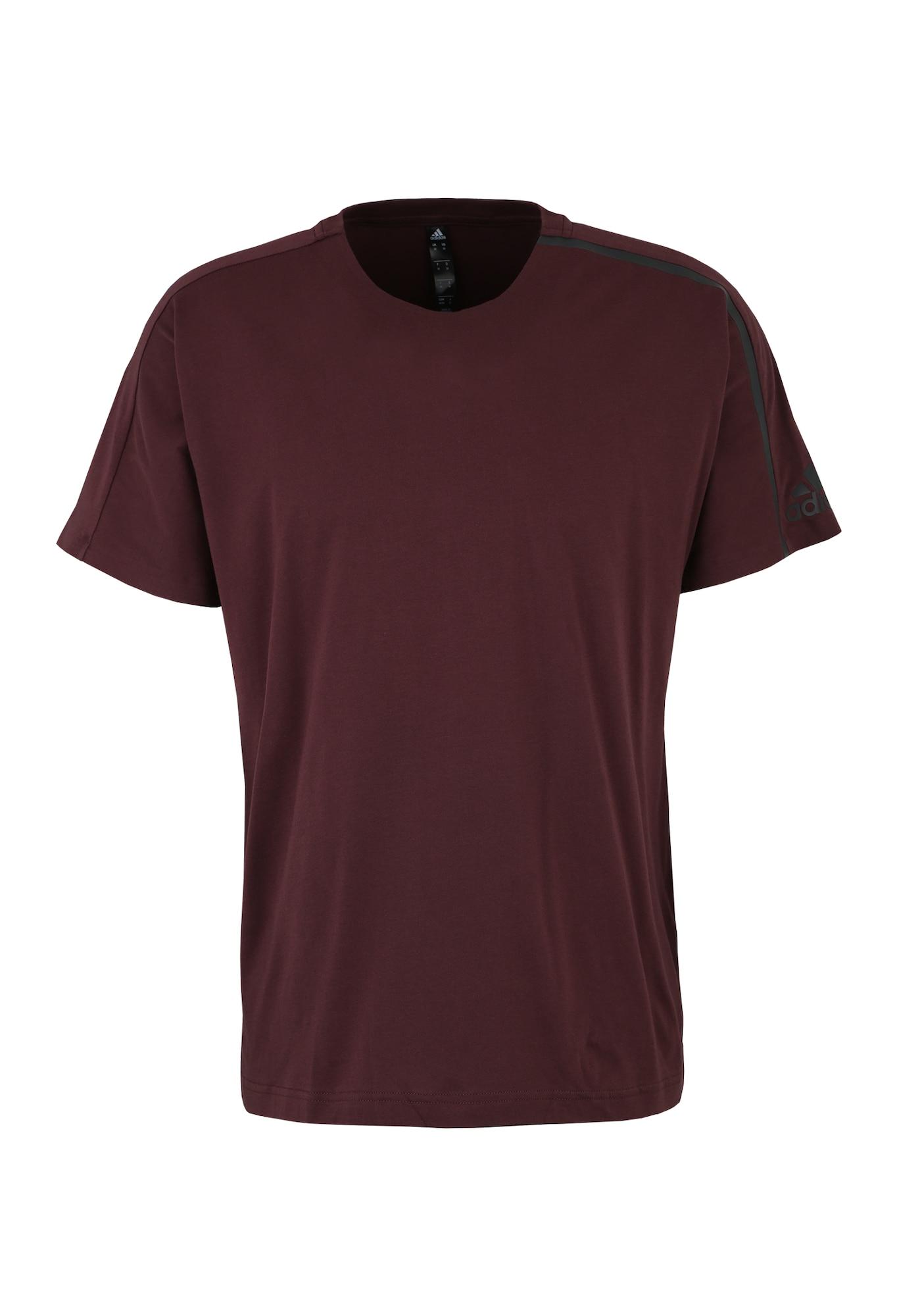 Funkční tričko ZNE bordó ADIDAS PERFORMANCE