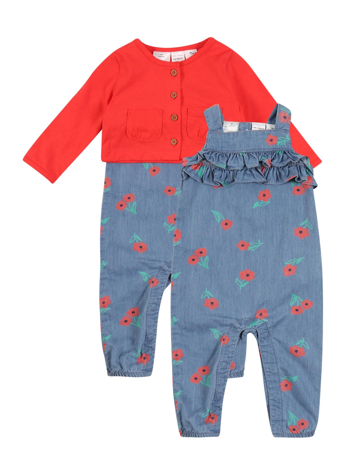 Carter's Rinkinys 'Collection 1 S20 G C1 Overall' ryškiai raudona / tamsiai (džinso) mėlyna