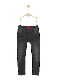 S.Oliver,S.Oliver Junior,s.Oliver Kinder,Jungen Brad: Coole Superstretch-Jeans schwarz | 04055268127378