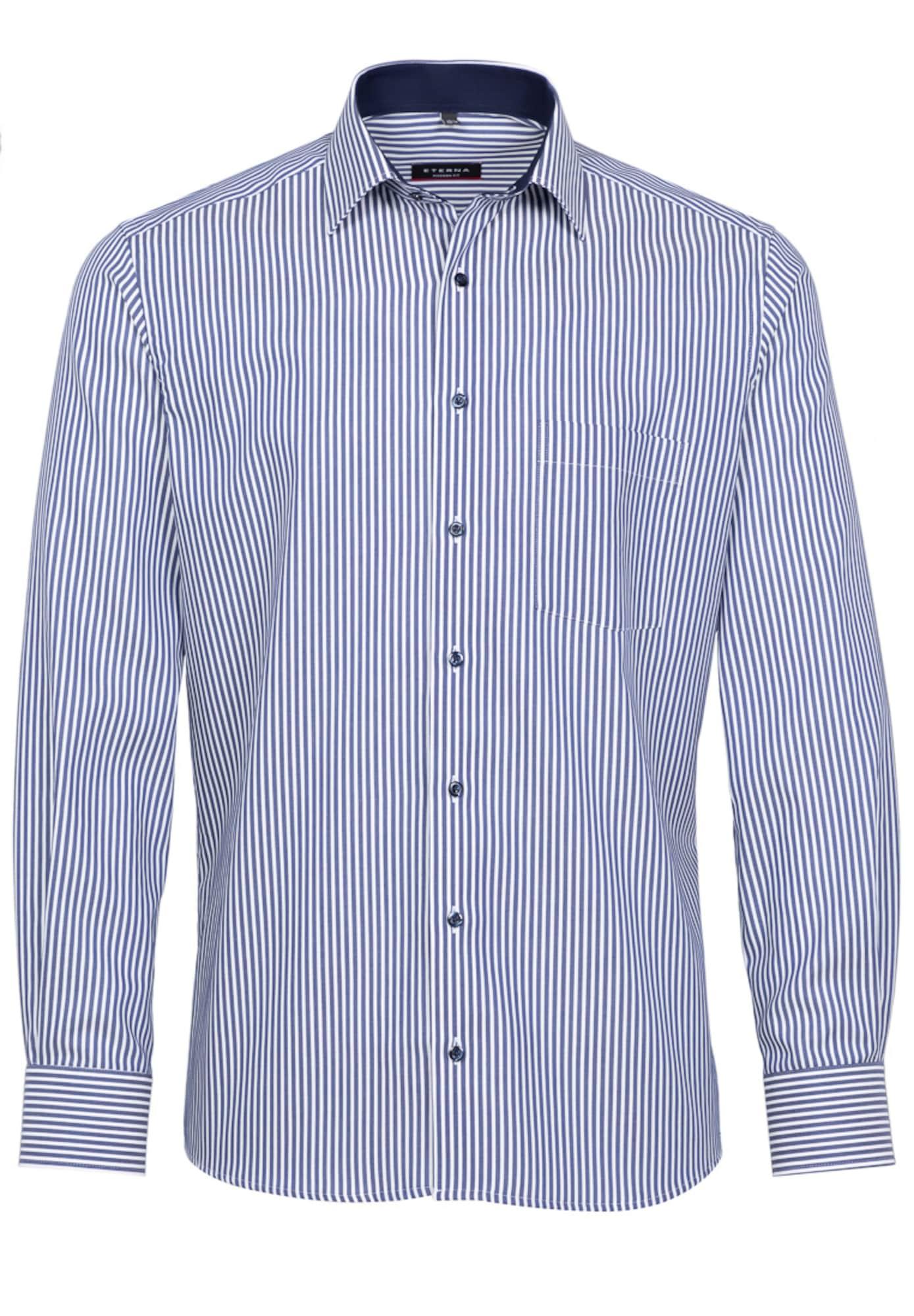 ETERNA Marškiniai mėlyna / balta