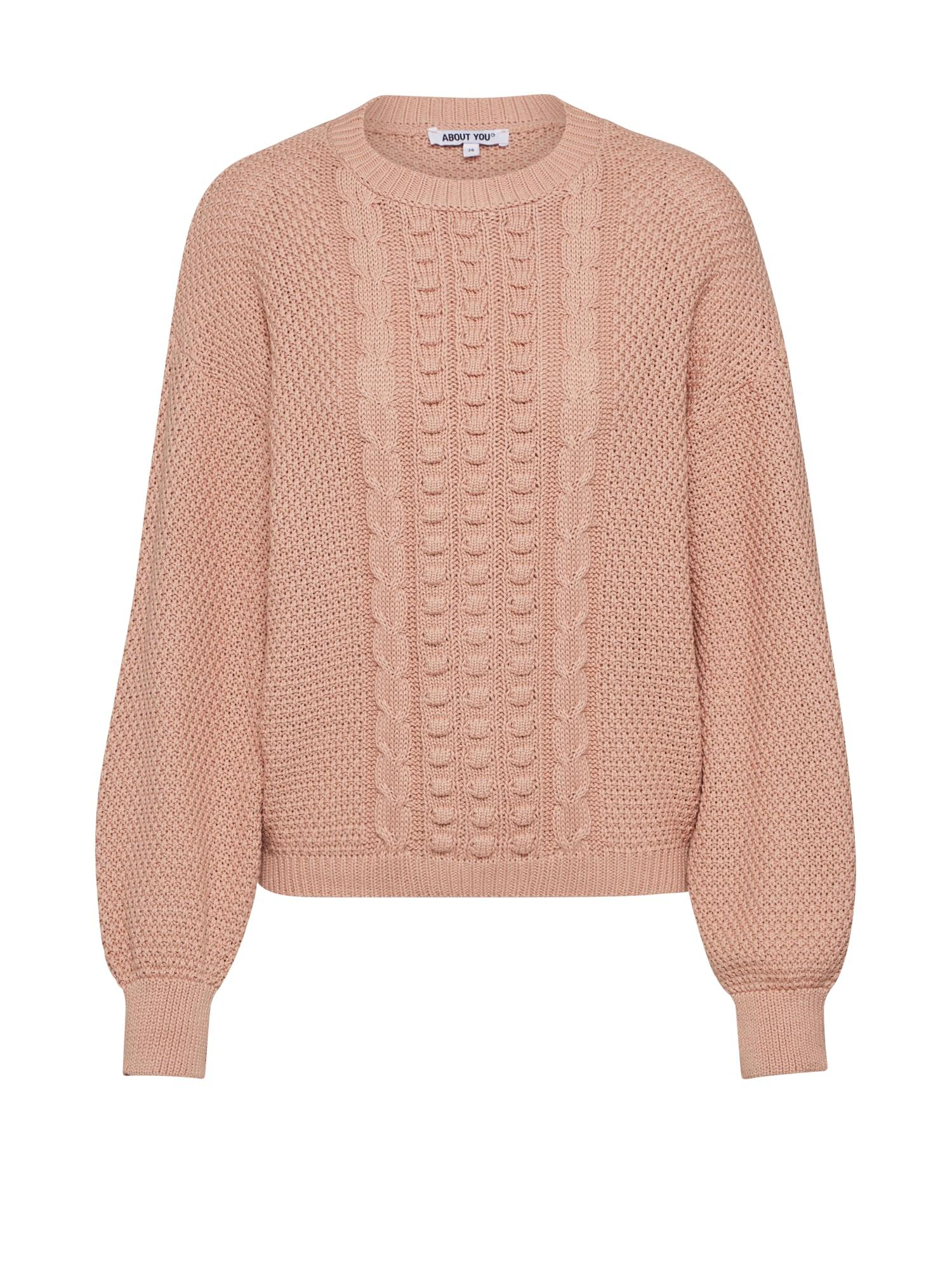 ABOUT YOU Megztinis 'Leona' smėlio