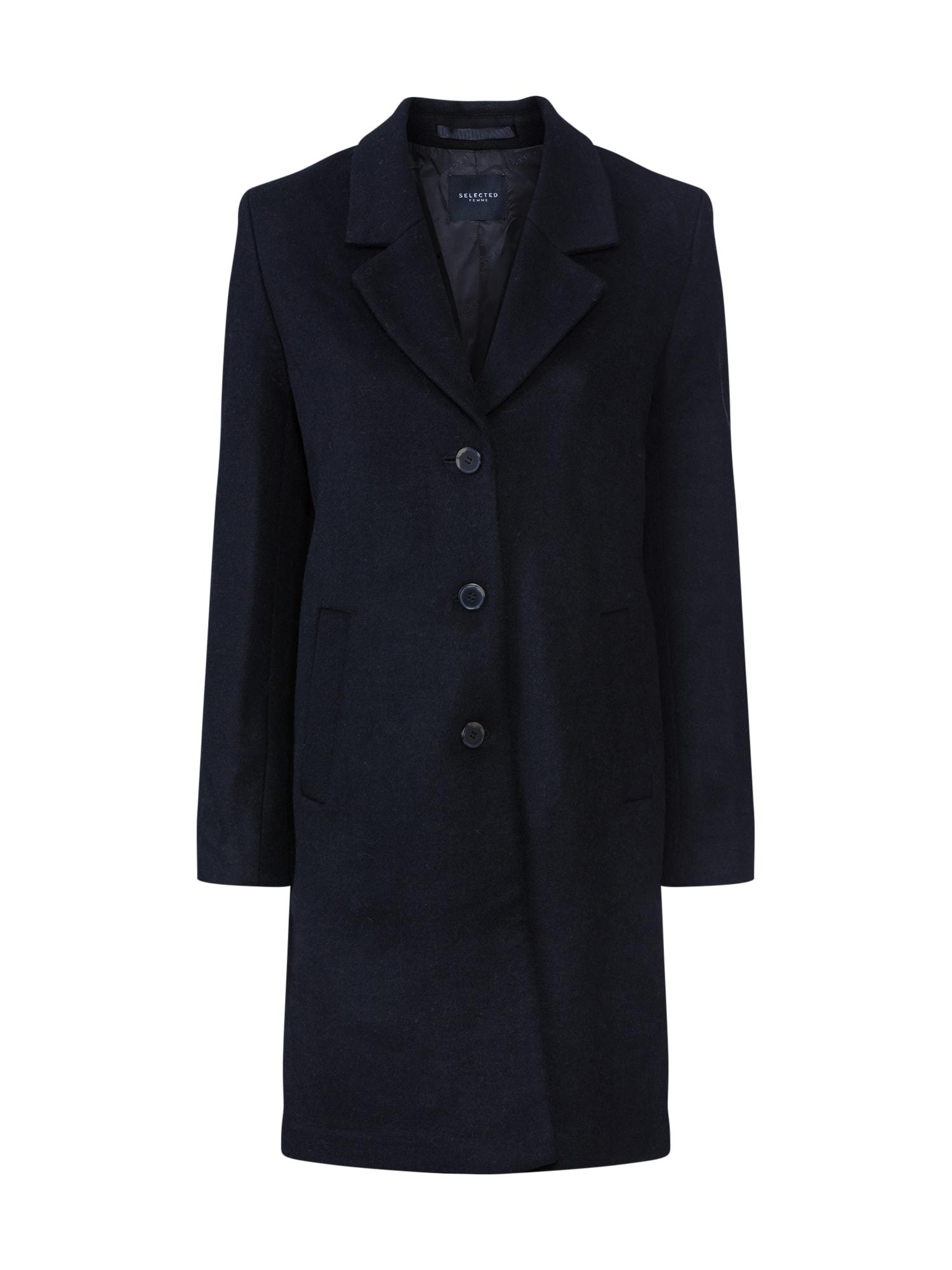 SELECTED FEMME Demisezoninis paltas juoda