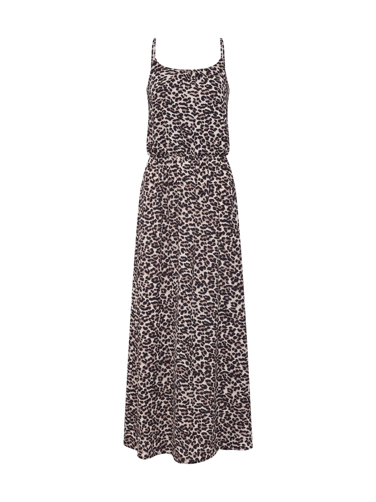 Letní šaty Winner SL WVN světle béžová hnědá černá ONLY