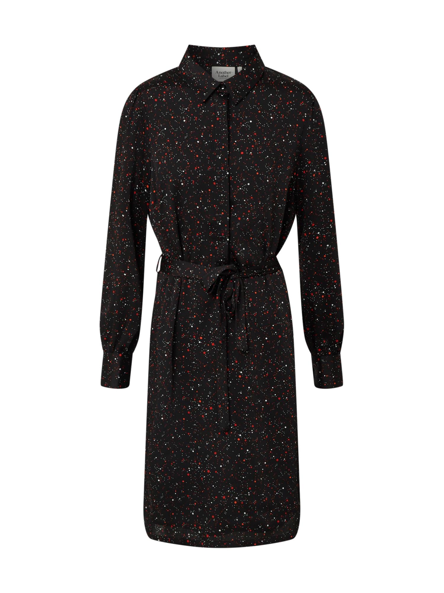 Another Label Palaidinės tipo suknelė juoda / raudona / balta