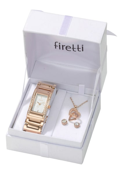 Schmucksets für Frauen - FIRETTI Armbanduhr 5 tlg. Set rosegold  - Onlineshop ABOUT YOU
