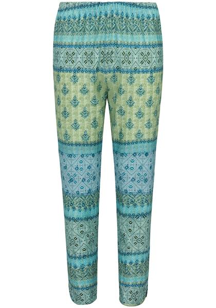 Hosen für Frauen - Green Cotton Hose mit Marokko Druck blau grün  - Onlineshop ABOUT YOU