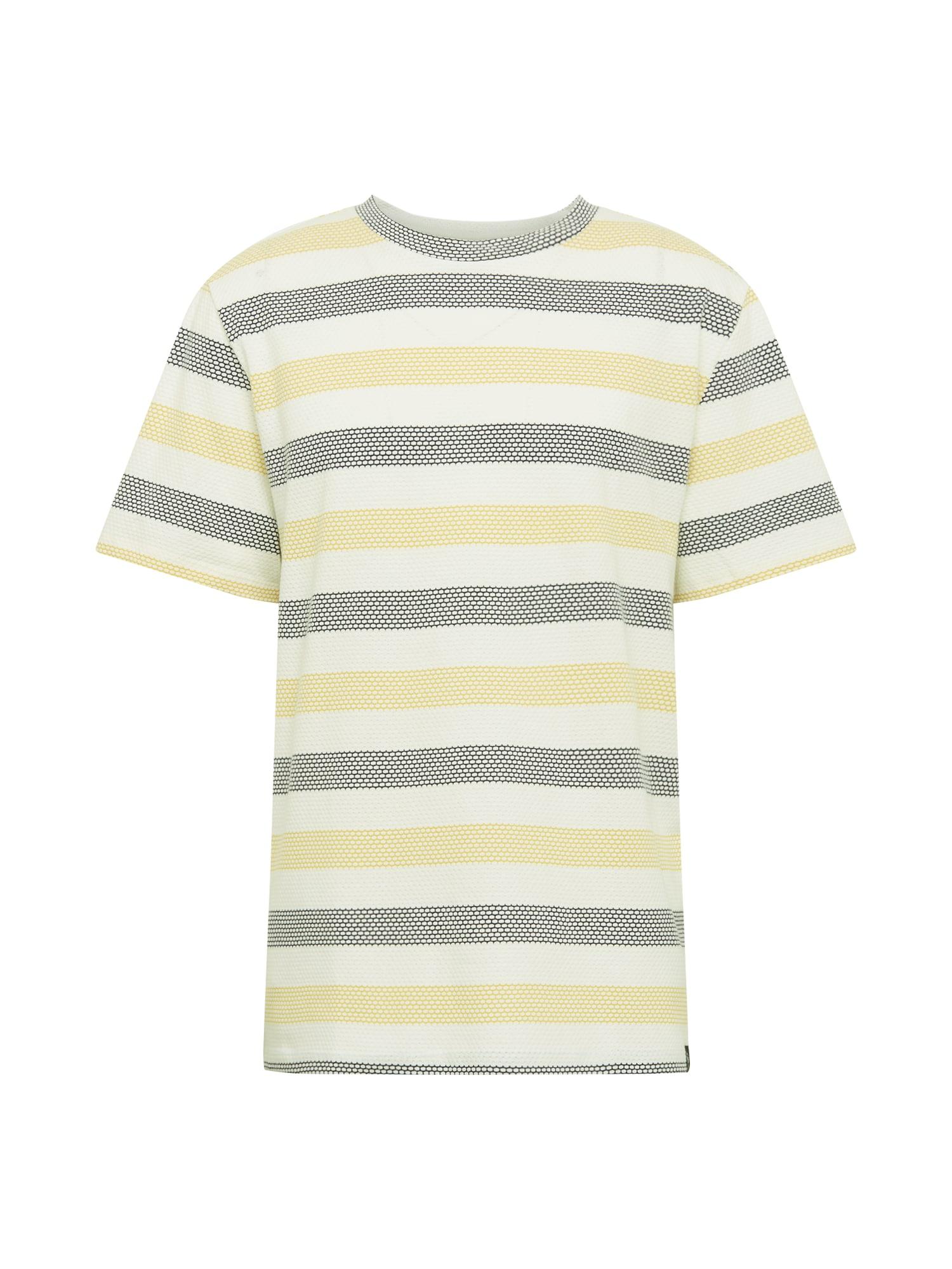 Brooklyn Supply Co. Marškinėliai tamsiai mėlyna / geltona / balta