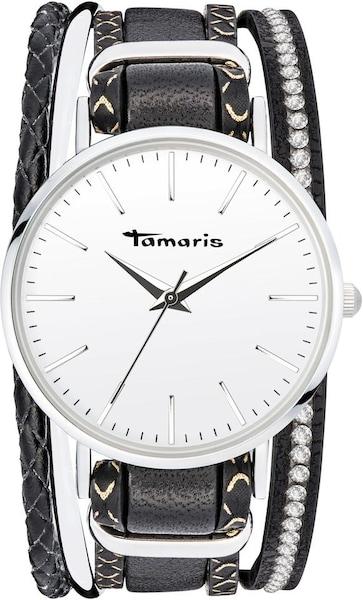 Uhren für Frauen - TAMARIS Uhr 'Anna, TW111' schwarz silber weiß  - Onlineshop ABOUT YOU